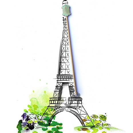 Paris illustration for St Germain