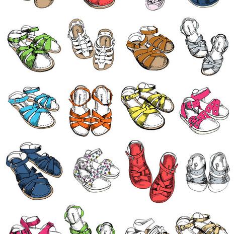 Salt-water sandals poster