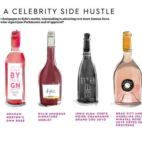 Stylist magazine - Celebrity wines