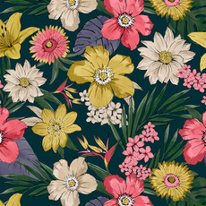 Linear floral