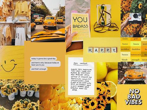 Yellow Collage Kit