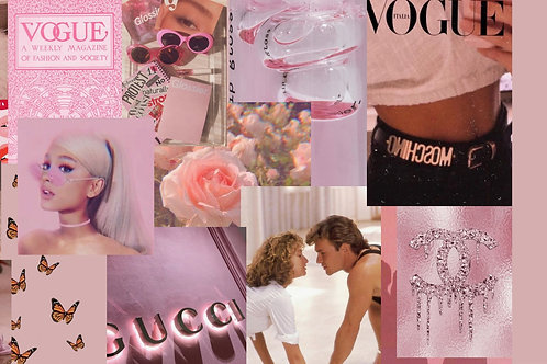 Pink Collage Kit