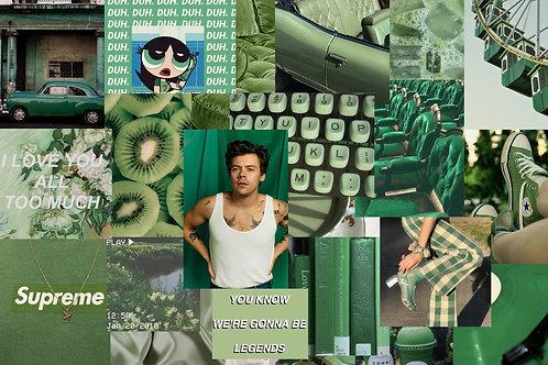 Green Collage Kit