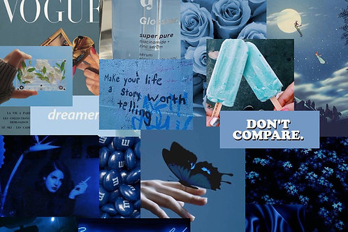 Blue Collage Kit