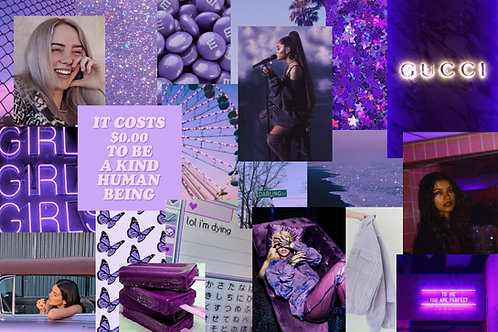 Purple Collage Kit