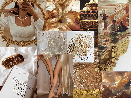 Gold Collage Kit