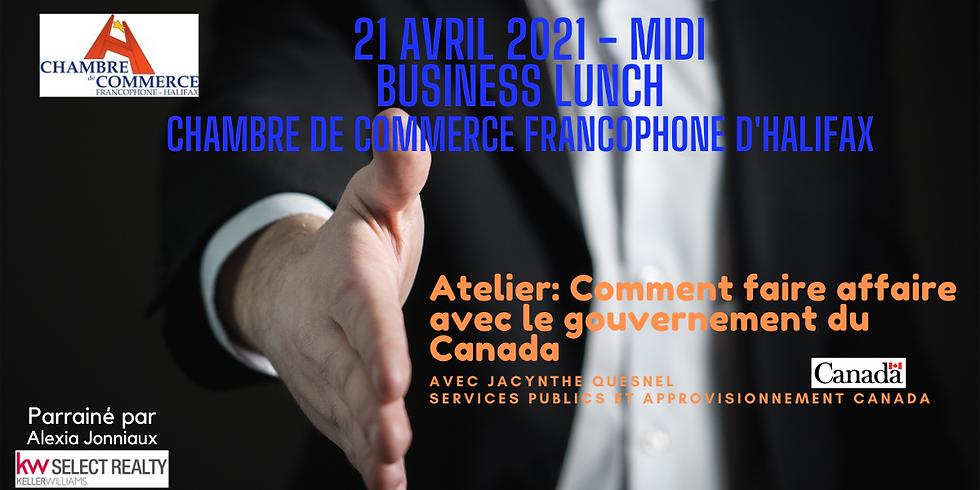 Business lunch virtuel