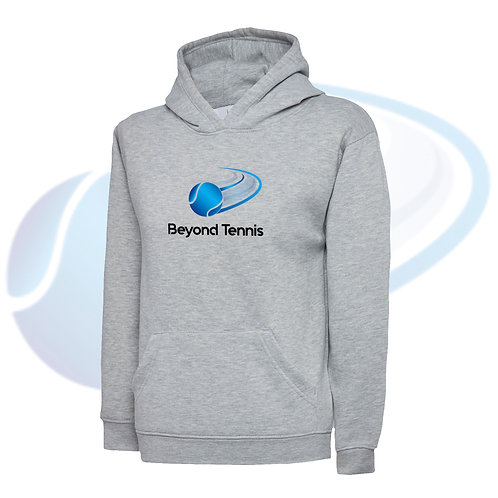 Kid's Personalised Tennis Hoodie - Grey
