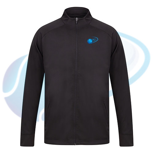 Unisex Adult's Track Training Top - Black