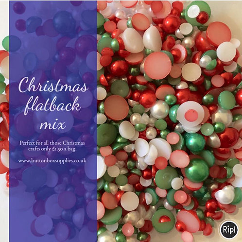 Christmas mix flatback pearls
