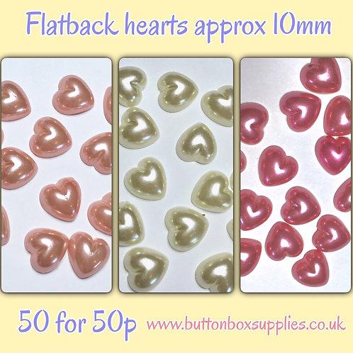 Flatback hearts