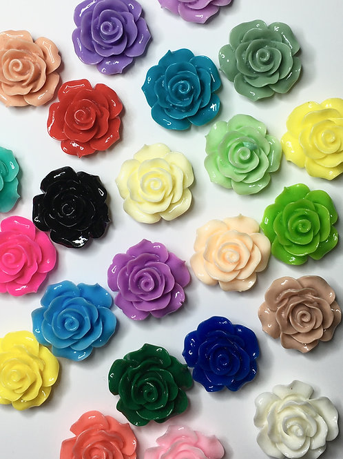 18-20mm x 12 resin flowers