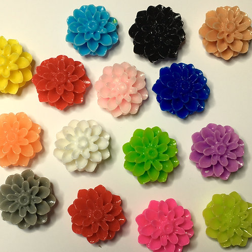 15mm x 18 resin flowers