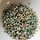 Thumbnail: 500 x 5mm bronze/turquoise flatback pearls