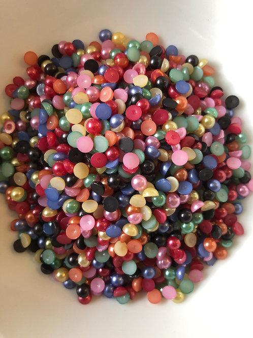 500 x 5mm mixed colour flatback pearls