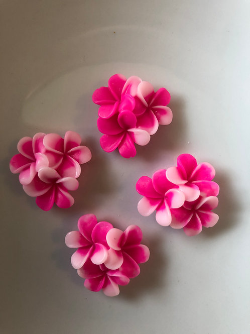 12 x 21mm pink flowers