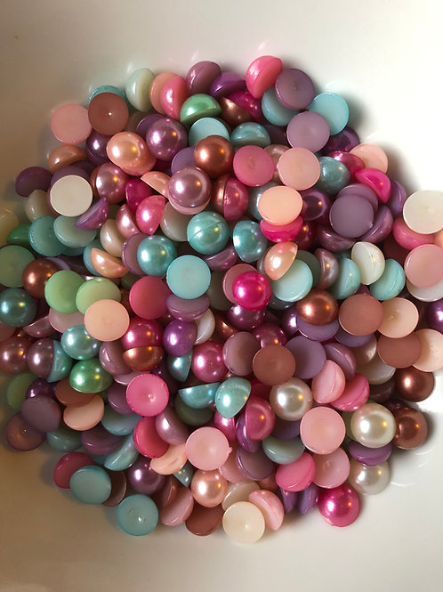 75 x 10mm mixed colour pearls