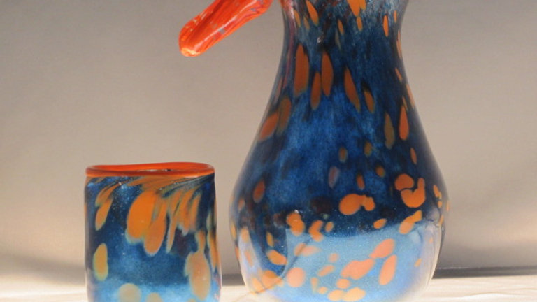Carafe and Cup art glass mosaic