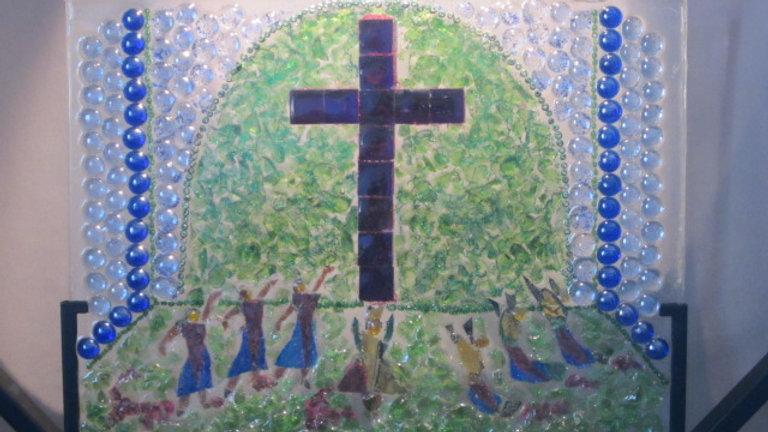 Praise Dance artwork, glass mosaic