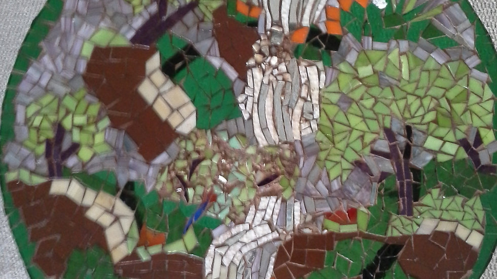 Springtime in Portland art glass mosaic