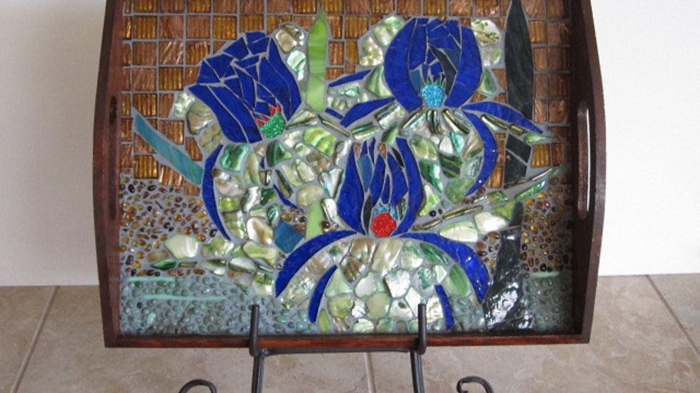 Floral Elegance art glass mosaic