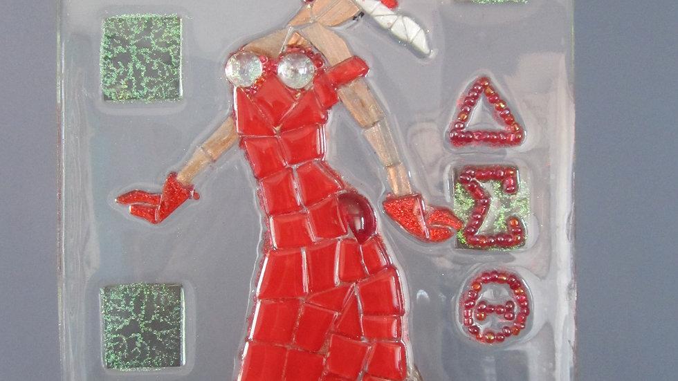 Delta Sigma Theta artwork glass mosaic