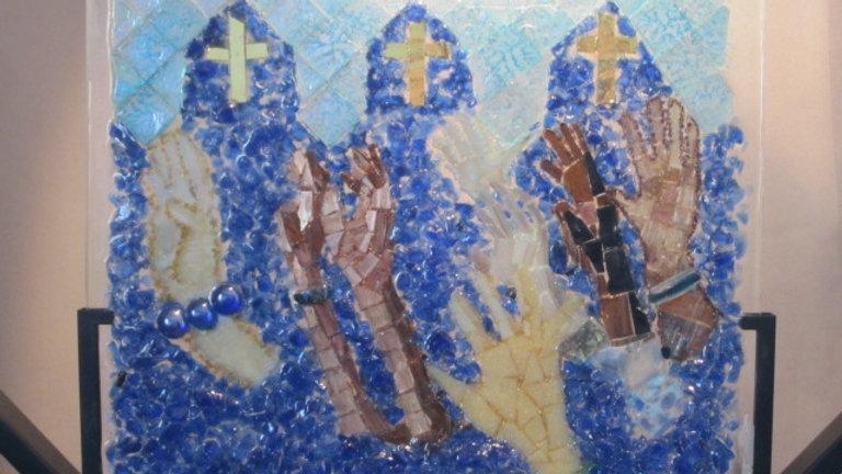 Christian art, glass mosaic