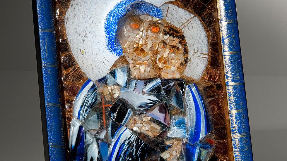Madonna and child artwork glass mosaic