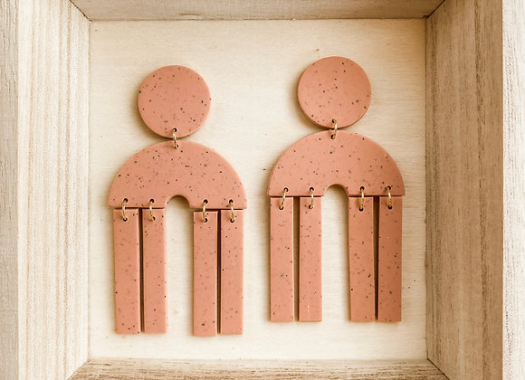 Ariel Earrings - Polymer Clay