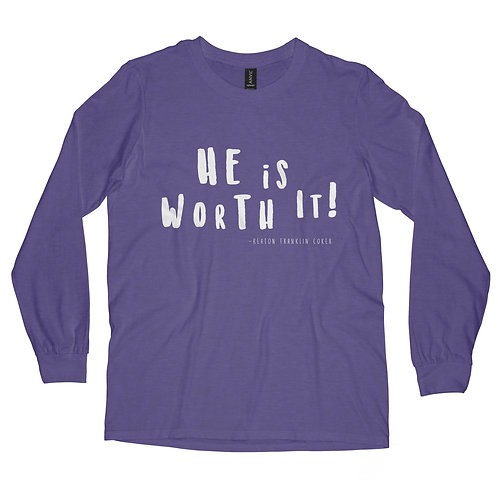 Long Sleeve T-Shirt | Heather Purple