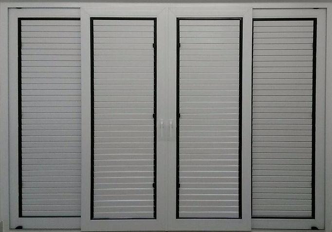 ประตูบานเกล็ด uPVC HEVTA