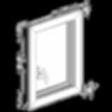 โครงสร้างภายในหน้าต่าง uPVC Tilt&Turn