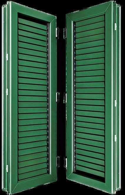 ประตูหน้าต่าง ยูพีวีซี แบบเกล็ดปรับโยกใช้แทนกระจก