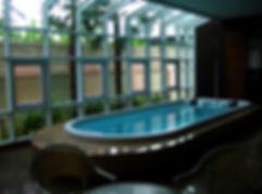Skylight ห้องกระจก uPVC ติดตั้งกับ Swim spa