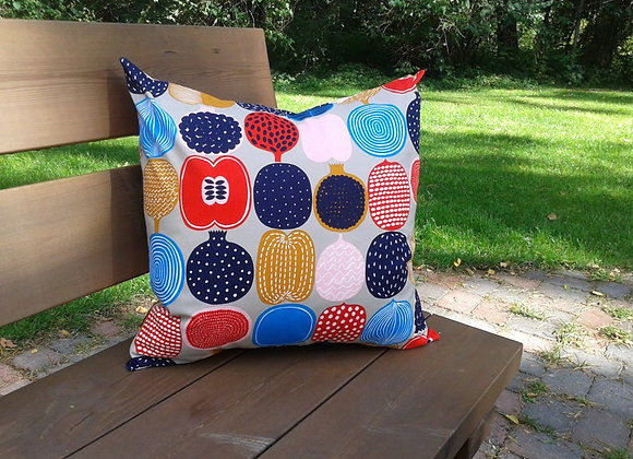 18 inches Pillow cover from Marimekko fabric Kompotti