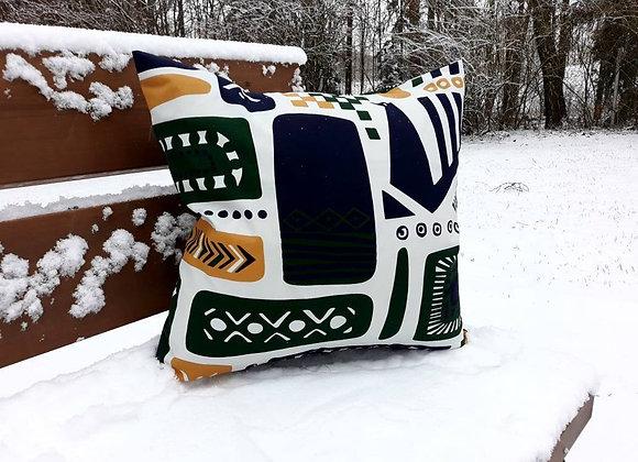 Scandinavian pillow cover from Marimekko fabric Svaale