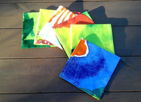Colorful cloth napkins from Marimekko fabric Juhannustaika
