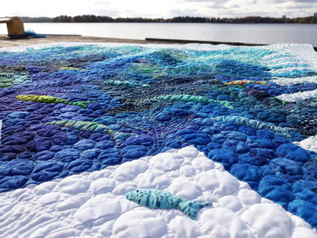 A new quilt - Colors of the sea