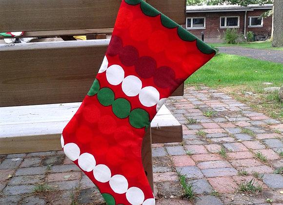 Christmas stocking from Marimekko fabric Räsymatto