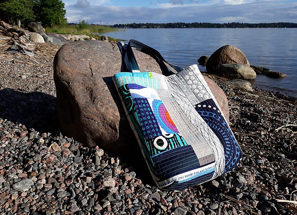 Quilted patchwork tote bag from Marimekko fabric