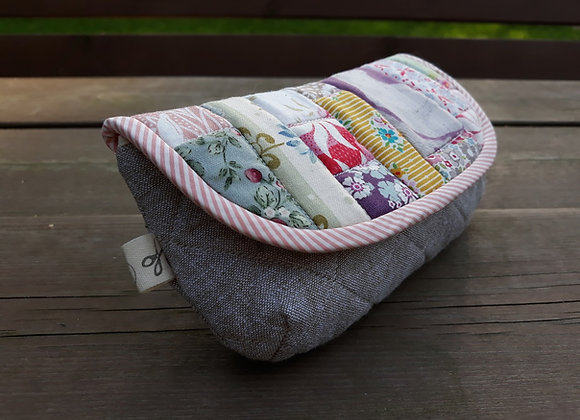 Patchwork sunglasses case from Tilda fabric