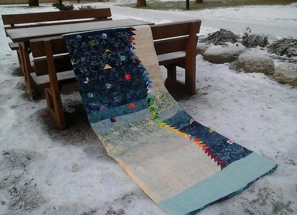 Modern patchwork quilt, queen size