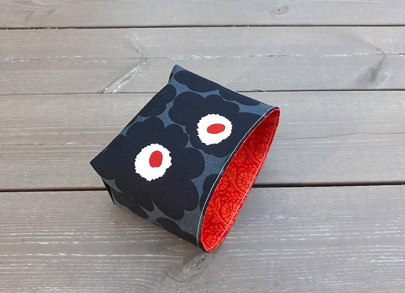 Waterproof floral basket from Marimekko fabric Unikko