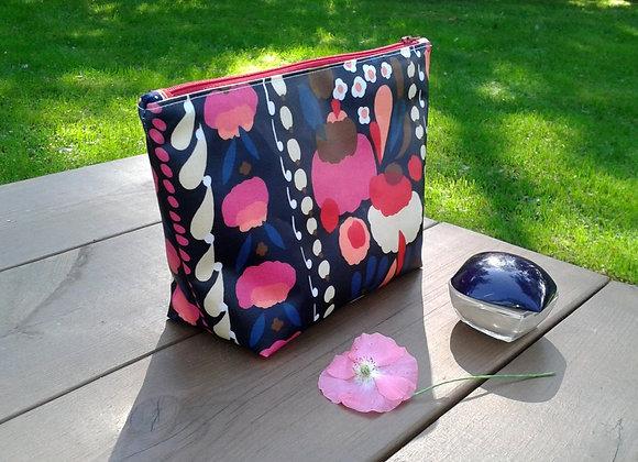 Waterproof zip pouch from Marimekko oilcloth fabricTuppurainen