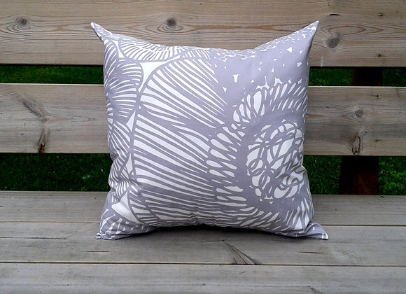 Neutral pillow cover from Marimekko fabric Kurjenpolvi