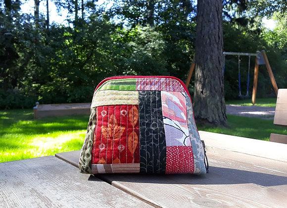 Patchwork zipper pouch from Marimekko fabric