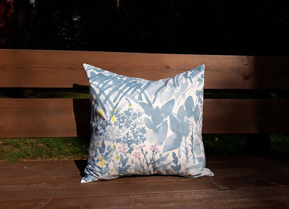 Gray pillow cover from Marimekko fabric Kesäntö