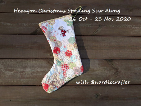 Hexagon Christmas stocking Sew Along