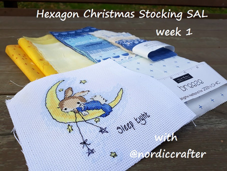 Hexagon Christmas stocking SAL, week 1. Getting started