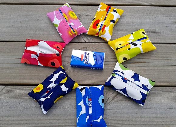 Pocket tissue cover from Marimekko fabric mini Unikko